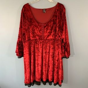 Torrid Halloween Velvet Bell Sleeve Dress